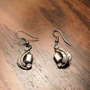 White Buffalo and sterling silver earrings
